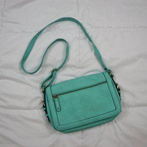 Merona Teal Crossbody Messenger Bag